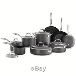 Mark Member Cookware Set Hard Anodized 15Pcs Nonstick Pan Pot Home Kitchenware