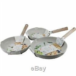 Masterclass Premium Cookware 8 9.5 11 Skillets Non Stick Frying Pans Set of 3