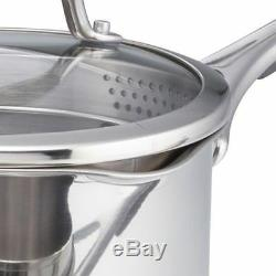Meyer 70022 Select 6 Piece Pan Set with Glass Straining Lids, Stainless Steel