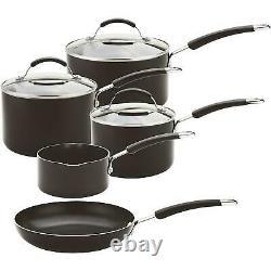 Meyer Cookware Set Frying Pan Saucepan Induction & Non-Stick, Aluminium, 5 Pot
