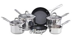 Meyer Select Stainless Steel 6 Piece Draining Saucepan Set Induction Cookware