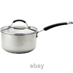 Meyer Stainless Steel Cookware Set, Frying Pan, Saucepan, Induction Set, 5 Piece