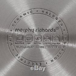 Morphy Richards Accents Stainless Steel Induction 3 Piece Pan Set Copper 46394