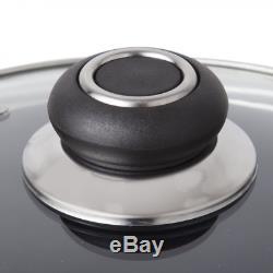 Morphy Richards Equip 5 Piece Pan Set with 9 Piece Tool Set Black