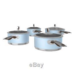 Morphy Richards Special Edition Pan Set, 4 Piece Azure