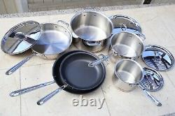 NEW $1799 All-Clad Copper Core 10-Piece Cookware Set Pot With Nonstick Pan