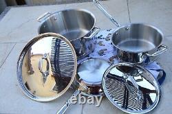 NEW $833 All-Clad Copper Core 5-Piece Cookware Set Pot & Pan FREE SHIP