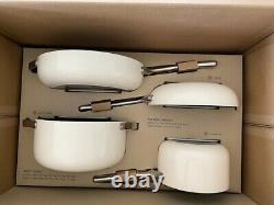 NEW Caraway 7-Piece Cookware Set Non-stick Ceramic Coated Non-Toxic Cream color