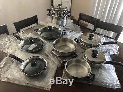 NEW Family Set iCook 17 Pieces (Amway) Non Stick Steamer Pot Pan