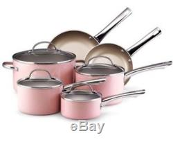 NEW PINK Farberware Pots & Pan Set(breast cancer Cuisinart Kitchen Aid)cook ware