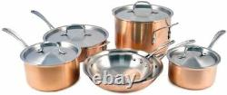 NIB Calphalon T10 Tri-Ply Copper 10 Piece Set