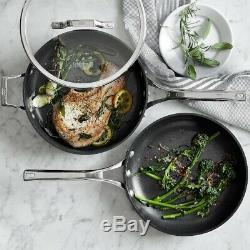 NIB Williams Sonoma Calphalon Elite Nonstick 3-Piece Frying Pan & Sauté Pan Set