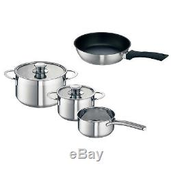 Neff Z9442X0 4 Piece Induction Compatible Stainless Steel Pots & Pan Set