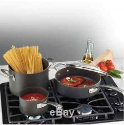 New 15 Piece Heavy Gauge Hard Anodised Nonstick Teflon Coated Cookware Pot Set