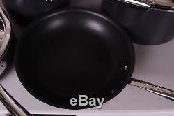 New 7pc Williams Sonoma Hard Anodized Copper Core nonstick cookware set pan pot