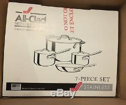 New All-Clad Stainless Steel 7-Pc. Cookware Set