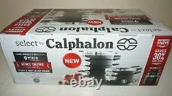New Calphalon Select 9 piece Space Saving Hard-Anodized Nonstick Cookware Set