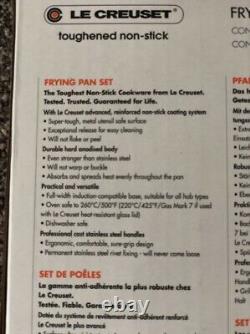 New Le Creuset Non Stick 2 Piece Frying Pan Set Toughened