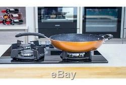 New Scoville Non Stick 8Pc Saute Grill Saucepan Pan Pot SET Copper Shade DECOR L