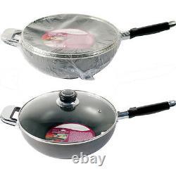 Non Stick Aluminium Wok Set Saucepan Frying Stir Pan Chinese Cooking Asian