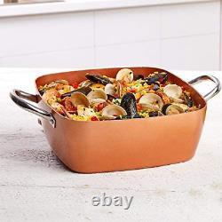 Non-Stick Cookware Set, Caseserole Pots, Pans, and Accessories 12-Piece Set