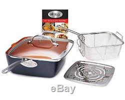 Non Stick Kitchen Cookware Set Fry Pans Stock Pots Skillets Lids Cooking 15 Pcs