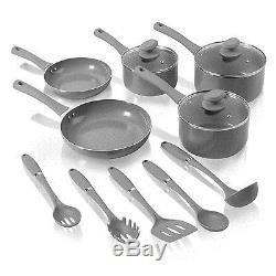 Non-Stick Pots Pans Set Kitchen Cookware Utensils Ceramic Saucepans Frying Glass