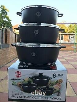 Non stick Cooking Pots Induction large size three pots