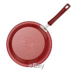 Nonstick Cookware Set Rachel Ray Pots Pans Kitchen Enamel Cooking Red 12 PC