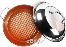 NuWave Duralon Ceramic Nonstick 7-Piece Cookware Set with 11 BBQ Grill Pan