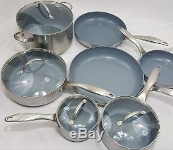 Original Green Pan Induction Stainless steel and Ceramic Non-Stick 11 Piece Set