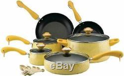 Paula Deen 12513 Signature Nonstick Cookware Pots and Pans Set 15 Piece