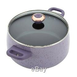 Paula Deen 13064 Signature Nonstick Cookware Pots and Pans Set, 15 Piece, Lavend