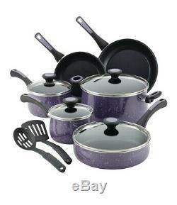 Paula Deen Nonstick Cookware Pots and Pans Set, 12 Piece, Lavender