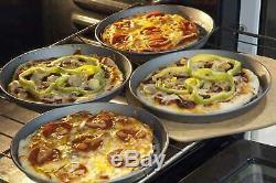 Perforated Pizza Pans Black Hard Aluminum WoodFiber Peel Dough Docker SET