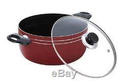 Premium 17 Piece Nonstick Coating Pots Pans Kitchen Tools Cookware Cooking Set
