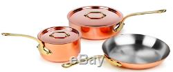 Premium Copper Cookware Set Non Stick Pots and Pans Kitchen Stainless Steel New