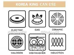 Premium Frying Pan Korea King Diamond Series Marble Nano Titanium Coating 28 Cm