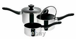 Prestige 77391 3 Piece Stainless Steel Pan Set Non-Stick Saucepan Cookware New