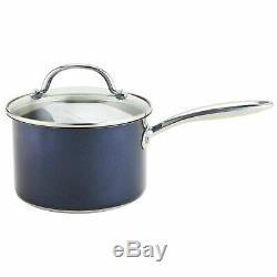 Prestige Opti Steel 5 Piece Cookware Pan Set Milkpan, Saucepan and Frying Pan
