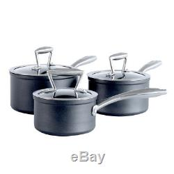 ProCook Forged Non-Stick Induction Saucepan Set Pots and Pans Kitchen 3 Piece