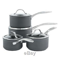 ProCook Professional Anodised Induction Non-Stick Saucepan Set 4 Piece