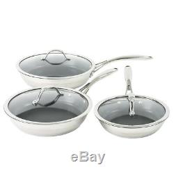 ProCook Professional Stainless Steel Induction Non-Stick Frying Pan Set with Lid
