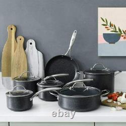 Professional Granite Set 6 Piece Cookware Induction Non-stick Pans Stainless NEW