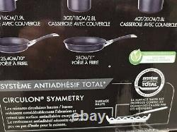 REDUCED Circulon Symmetry Hard Anodised 8 piece Non-Stick 5 pan Set Induction