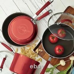 Rachael Ray 13-Piece Hard Porcelain Enamel Nonstick Pots and Pans Set/Cookware S