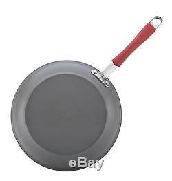 Rachael Ray Cucina 12-Piece Kitchen Cookware Set, Non Stick Pots and Pans Red