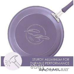 Rachael Ray Cucina Nonstick Cookware Pots and Pans Set, 12 Piece, Lavender
