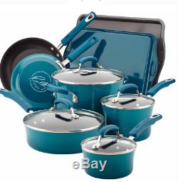 Rachel Ray Cookware Set Nonstick Enamel Marine Blue Non Stick Enamel Pots Pans