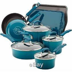 Rachel Ray Cookware Set Nonstick Non Stick Enamel Marine Rachael Pots Pans New
